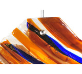 "28""W Oceano Fused Glass Contemporary Inverted Pendant"