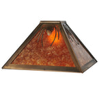 "14""Sq Mountain Pine Rustic Lodge Ceiling Pendant"