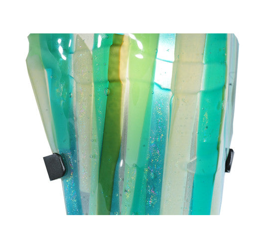 8 W Metro Fusion La Spiaggia Contemporary Fused Glass Wall Sconce Smashing Stained Glass Lighting