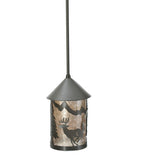 "6""W Lone Deer Lantern Wildlife Mini Pendant"