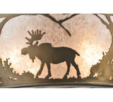 "22""W Northwoods Moose At Dawn Wildlife Flushmount"