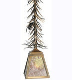 "7""Sq Winter Pine Rustic Lodge Ceiling Pendant"