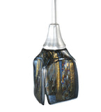 "4""Sq Metro Fusion Cielo Di Notte Draped Fused Glass Pendant"