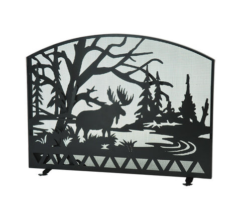 "54""W X 42""H Moose Creek Metal Fireplace Screen"