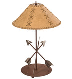 "23""H Arrowhead Faux Leather Shade Table Lamp"