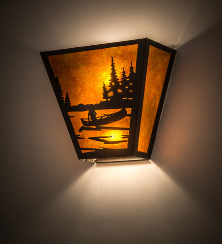 "13""W Canoe Lodge Nautical Wall Sconce"