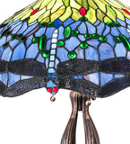 "30""H Tiffany Hanginghead Dragonfly Table Lamp"