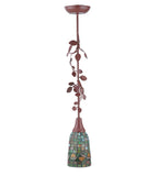 "5""W Acorn Tiffany Rustic Lodge Ceiling Pendant"