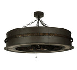 "44""W Golden Forge Deco Chandel-Air Ceiling Fan"