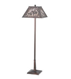 "60""H Fox Hunt Rustic Lodge Floor Lamp"
