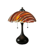 "21""H Metro Fusion Marina Fused Glass Contemporary Table Lamp"