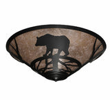 "22""W Bear On The Loose Wildlife Flushmount"