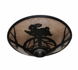 "22""W Rabbit Wildlife Flushmount"