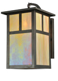 "10""W Hyde Park T Mission Curved Arm Outdoor Wall Sconce"