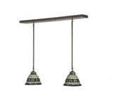 "32""L Roman Tiffany 2 Lt Island Victorian KItchen Island Lighting"