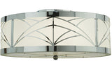 "22""W Cilindro Revival Deco Contemporary Flushmount"