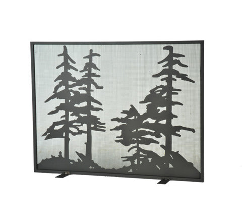 "44""W X 33""H Tall Pines Fireplace Screen"