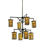 "52""W Hyde Park T Mission 2 Tier Chandelier"