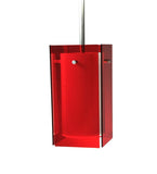 "5""Sq Metro Red Quadrato Mini Pendant"