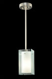 "5""Sq Metro Fluted Quadrato Contemporary Mini Pendant"