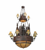 "54""W Walden Pine 2 Tier Lodge Chandelier"