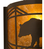 "12""W Lone Bear Wildlife Wall Sconce"