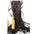 "20""W Twigs 3 Arm Rustic Lodge Chandelier"