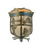 "15.5""W Lake Clear Lodge Rustic Wall Sconce-"