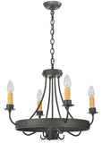 "25""W Franciscan 4 Arm W/Down Light Gothic Chandelier"