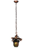 "13""W Tiffany Acorn Branch Rustic Lodge Pendant"