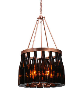 "19""W Tuscan Vineyard Estate 16 Wine Bottle Chandelier"