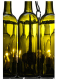 "19""W Tuscan Vineyard Villa 16 Wine Bottle Chandelier"