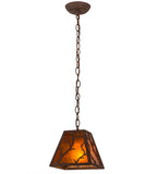 "8""Sq Branches Rustic Lodge Pendant 