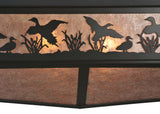 "80""L Ducks In Flight Oblong Wildlife Semi-Flushmount"