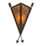 "12""W Desert Arrow Rustic Lodge Southwest Wall Sconce"
