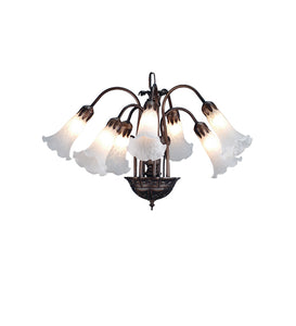 "20""W White Pond Lily 7 Lt Chandelier"
