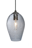 "44""L Crackle Orb 3 Lt Mouth Blown Kitchen Island Pendant"