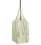 "4""Sq Metro Fusion Branches Draped Contemporary Pendant"