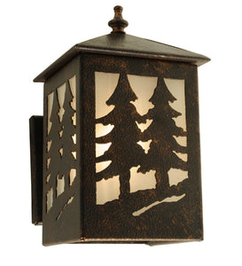 "5.75""W Seneca Tall Pines Outdoor Wall Sconce"