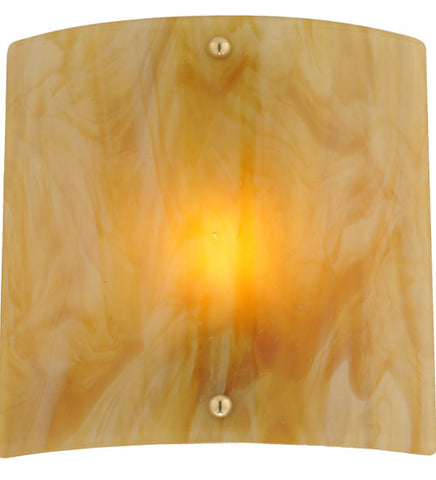 "11""W Metro Fusion Auburn Fused Glass Wall Sconce"