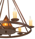 "30""W Desert Arrow Southwest Chandelier"