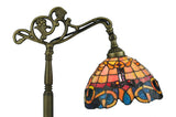 "63""H Saturday Morning Tiffany Bridge Arm Floor Lamp"