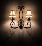 "16""W Felicia 2 Lt Victorian Glam Wall Sconce"