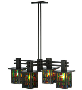 "36""L Hausman Mission 4 Lt Tiffany Chandelier"