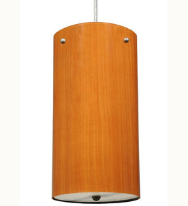 "6""W Cilindro Faux Cherry Contemporary Pendant"
