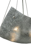 "26""W Metro Fusion Lunar Crinkle Contemporary Inverted Pendant"