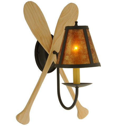 "12""W Paddle Nautical Lodge Wall Sconce"