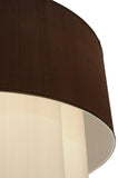 "36""W Cilindro 4 Tier Textrene Contemporary Fabric Pendant"