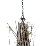"132""W Twigs 12 Lt Rustic Lodge Chandelier"