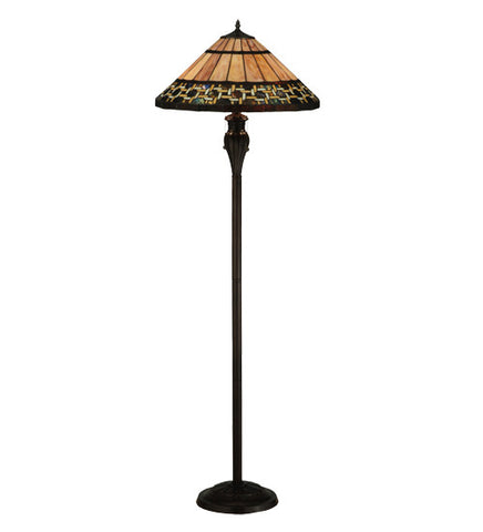 "61""H Ilona Mission Stained Glass Floor Lamp"